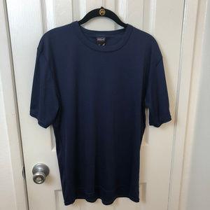 Men's Patagonia CAPILENE navy shirt. Large